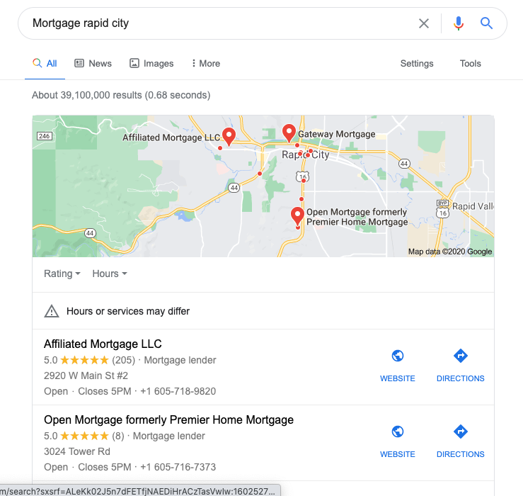 google my business profile for mortgage Seo