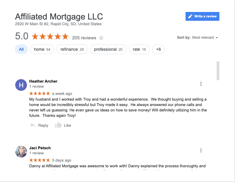reviews of mortgage companies